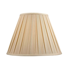 Pleated Lamp Shade in Dark Beige Fabric