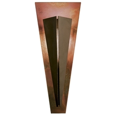 Art Deco Sconce Bronze Tapered Angle by Hubbardton Forge Lighting