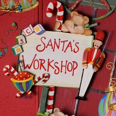 Santa's Workshop Sign Christmas Holiday Decoration