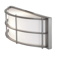 Access Lighting Tyro Satin Nickel Outdoor Wall Light