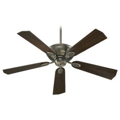 Quorum Lighting Kingsley Antique Silver Ceiling Fan Without Light