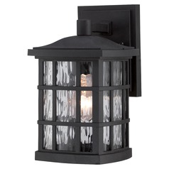 Quoizel Stonington Mystic Black Outdoor Wall Light