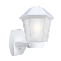 Frosted Glass Outdoor Wall Light White Costaluz by Besa Lighting
