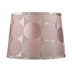 Barrel Lamp Shade with Silver Circular Pattern