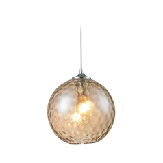 Elk Lighting HGTV Mini-Pendant Light with Textured Glass 31380/1cmp