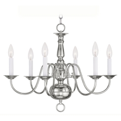 Livex Lighting Williamsburg Polished Nickel Chandelier