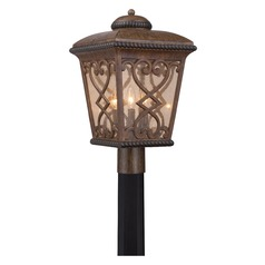 Quoizel Fort Quinn Antique Brown Post Light