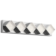 Elan Lighting Gorve Chrome LED Bathroom Light