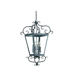 Corbett Lighting Outdoor Hanging Light with Clear Glass in Country Rust Finish 4597-14-02