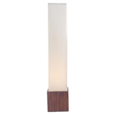 Modern Floor Lamp with White Shades in Teak Finish