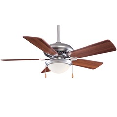 44-Inch Minka Aire Fans Supra 44 Brushed Steel Ceiling Fan with Light