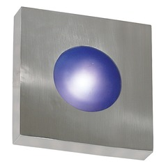 Modern Outdoor Wall Light With White Gl In Polished Aluminum Finish