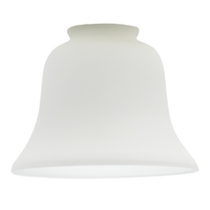 Satin White Bell Glass Shade - 2-1/4-Inch Fitter Opening