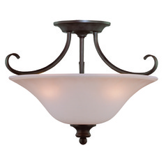 Craftmade Linden Lane Old Bronze Semi-Flushmount Light