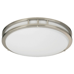 Quorum Lighting Satin Nickel Flushmount Light
