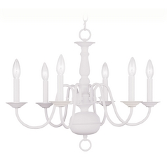 Livex Lighting Williamsburg White Chandelier