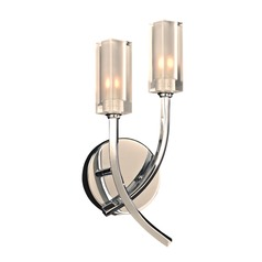 Plc Lighting Mibo Polished Chrome Sconce