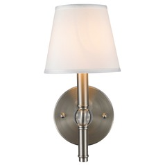 Golden Lighting Waverly Pewter Sconce