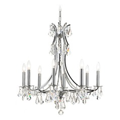 Crystorama 8 Light Crystal Chandelier In Polished Chrome