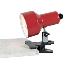 Lite Source Lighting Clip-On Ii Red Clip-On Lamp