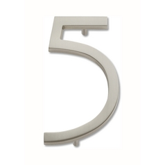 Brushed Nickel House Number