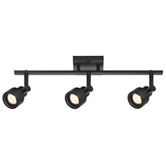 Track Light with 3 Stepped Cylinder Spot Lights - Black - GU10 Base