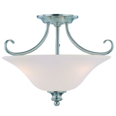 Jeremiah Linden Lane Satin Nickel Semi-Flushmount Light