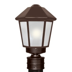 Frosted Glass Post Light Bronze Costaluz by Besa Lighting