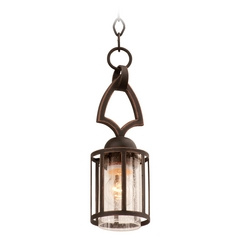 Kalco Lighting Keswick Antique Copper Mini-Pendant Light with Cylindrical Shade