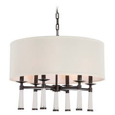 Crystorama Lighting Baxter Oil Rubbed Bronze Pendant Light with Drum Shade