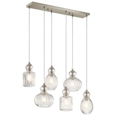 Transitional Multi-Light Pendant Brushed Nickel Riviera by Kichler Lighting