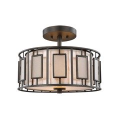 Elk Lighting Minden Tiffany Bronze Semi-Flushmount Light