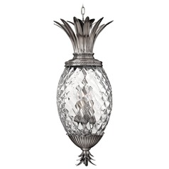 Polished Antique Nickel Pineapple Bronze Pendant Light