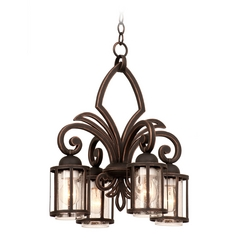 Kalco Lighting Keswick Antique Copper Mini-Chandelier
