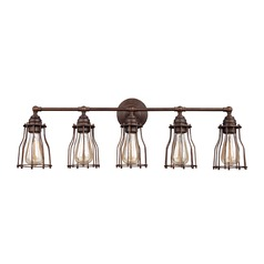 Feiss Lighting Calgary Parisian Bronze Bathroom Light