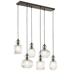 Transitional Multi-Light Pendant Olde Bronze Riviera by Kichler Lighting