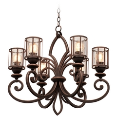 Kalco Lighting Keswick Antique Copper Chandelier
