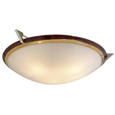 Oggetti Lighting Pie in the Sky Satin Nickel Flushmount Light