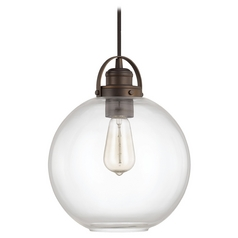 Capital Lighting Burnished Bronze Pendant Light with Globe Shade