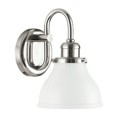 Capital Lighting Baxter Polished Nickel Sconce