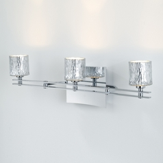 Holtkoetter Modern Bathroom Light with Silver Glass in Chrome Finish