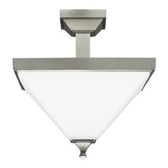 Sea Gull Lighting Denhelm Brushed Nickel Semi-Flushmount Light
