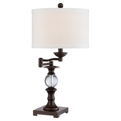 Quoizel Palladian Bronze Swing Arm Lamp with Drum Shade
