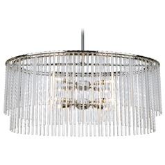 Crystorama Lighting Bleecker Chrome Pendant Light