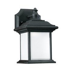 Sea Gull Lighting Wynfield Black Outdoor Wall Light