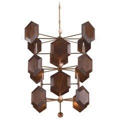Currey and Company Jamie Beckwith Brass / Stout Chandelier