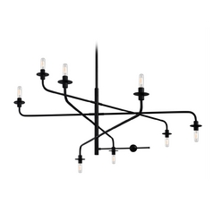 Mid-Century Modern Chandelier Black Atelier by Sonneman Lighting