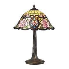 Dimond Lighting Rosedale Tiffany Bronze Table Lamp with Bowl / Dome Shade