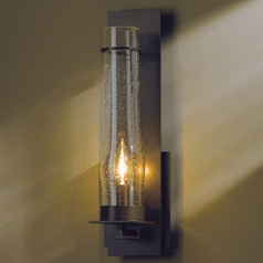 Seeded Glass Sconce Bronze Hubbardton Forge Lighting
