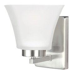 Sea Gull Lighting Bayfield Brushed Nickel Sconce
